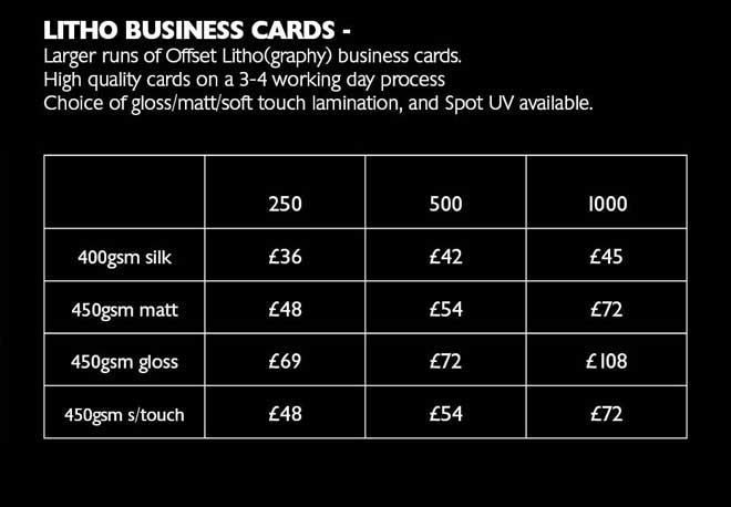 Litho card prices